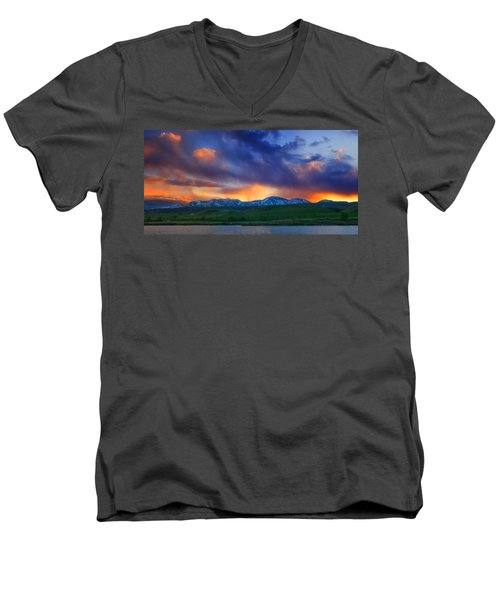 Front Range Light Show Men's V-Neck T-Shirt