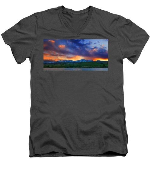 Front Range Light Show Men's V-Neck T-Shirt