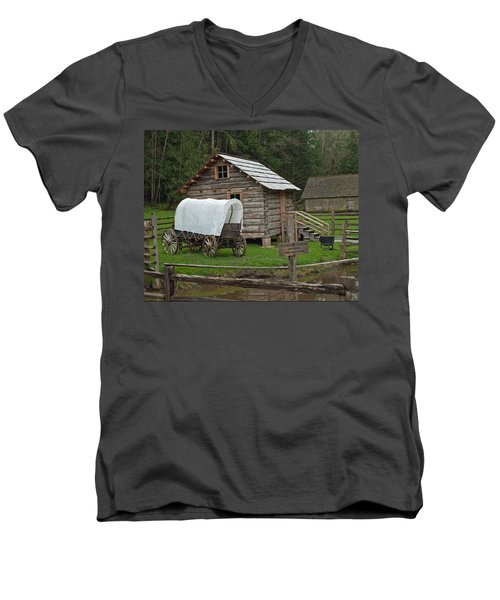 Frontier Life Men's V-Neck T-Shirt by Tikvah's Hope