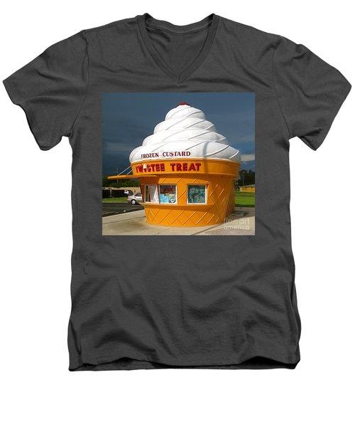 Frozen Custard Before The Storm Building Men's V-Neck T-Shirt