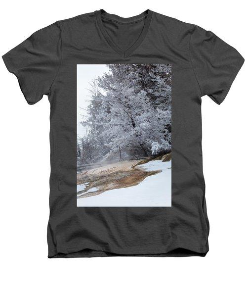 Frozen Tree Men's V-Neck T-Shirt