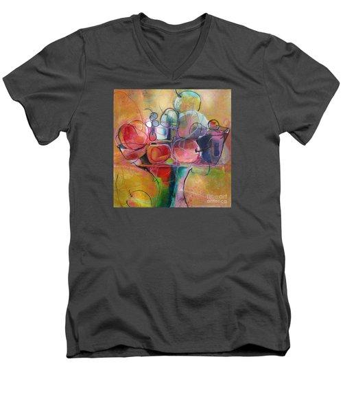 Fruit Bowl No.1 Men's V-Neck T-Shirt by Michelle Abrams