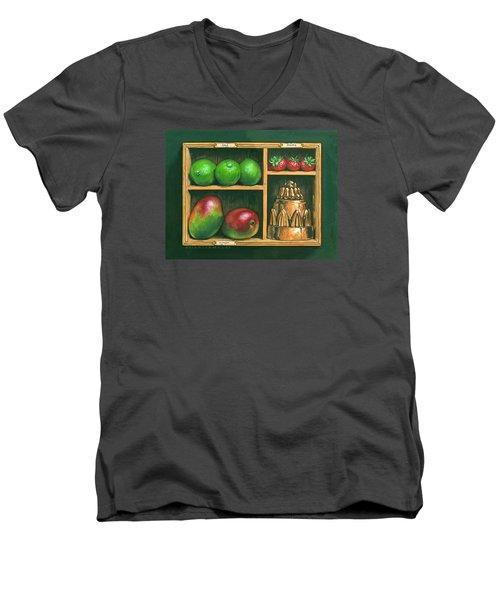 Fruit Shelf Men's V-Neck T-Shirt by Brian James