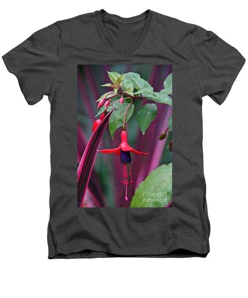 Fuchsia Delight Men's V-Neck T-Shirt