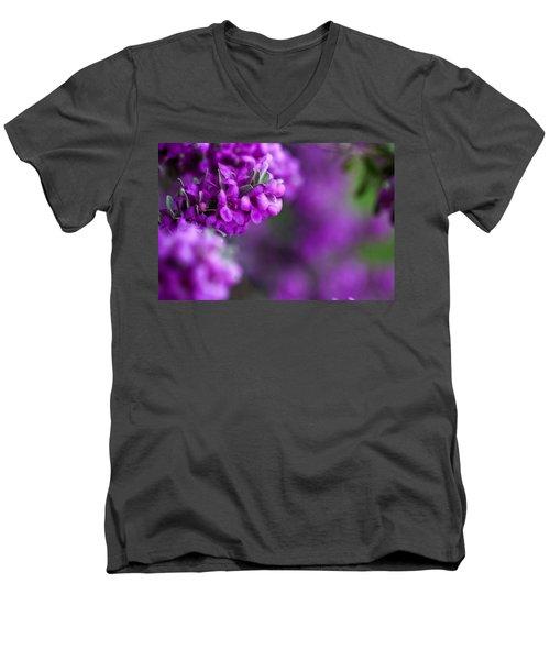 Full Bloom Men's V-Neck T-Shirt by Mark Alder