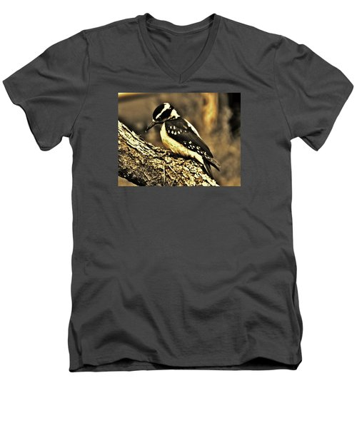 Men's V-Neck T-Shirt featuring the photograph Full-color Not Needed by VLee Watson