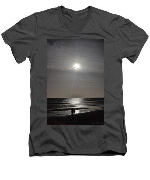 Full Moon Over Daytona Beach Men's V-Neck T-Shirt