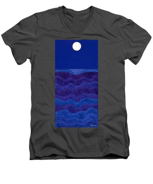 Full Moonscape II Men's V-Neck T-Shirt