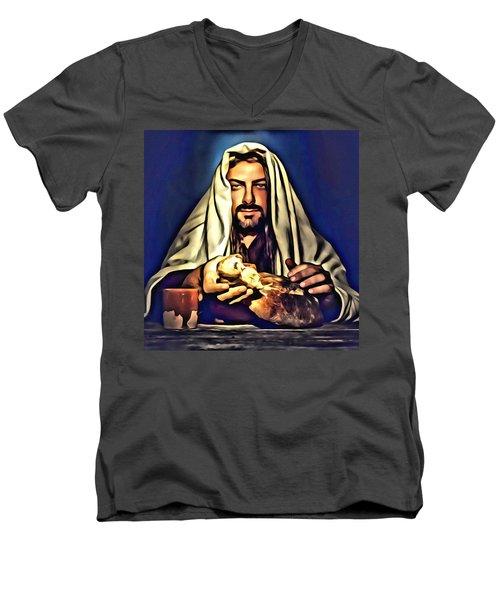 Full Of Love Men's V-Neck T-Shirt by Karen Showell