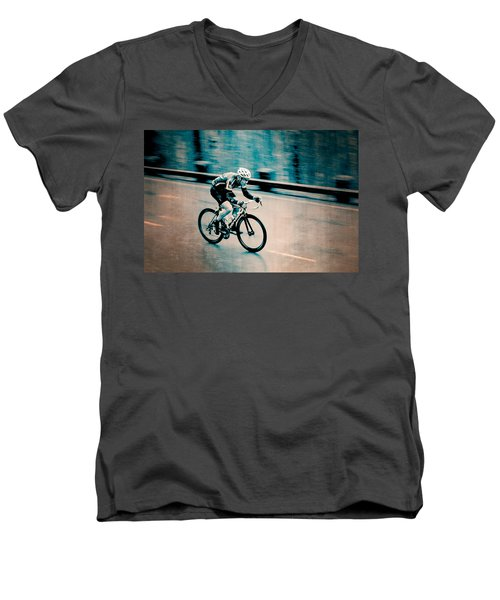 Men's V-Neck T-Shirt featuring the photograph Full Speed Ahead by Ari Salmela
