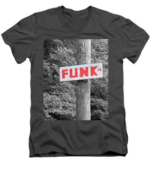 Men's V-Neck T-Shirt featuring the photograph Funk Road by Brooke T Ryan
