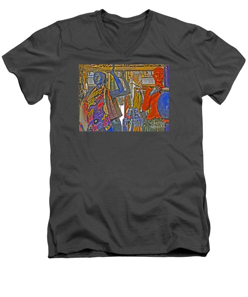 Men's V-Neck T-Shirt featuring the photograph Funky Boutique by Ann Horn