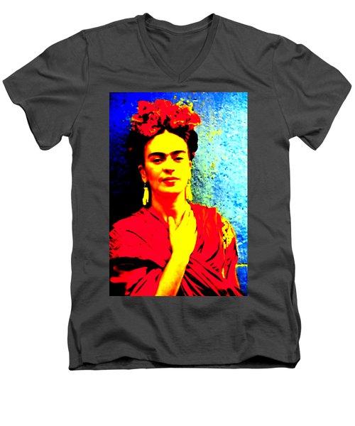 Funky Frida IIi Men's V-Neck T-Shirt