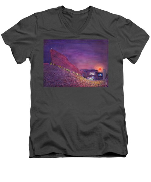 Furthur Red Rocks Equinox Men's V-Neck T-Shirt