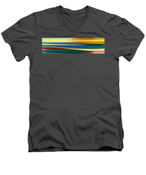 Fury Seascape Panoramic 1 Men's V-Neck T-Shirt