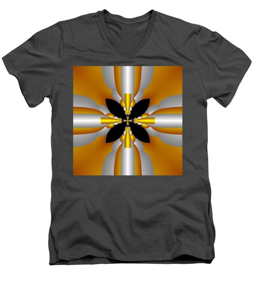 Futuristic Men's V-Neck T-Shirt