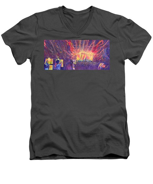 Galactic At Arise Music Festival Men's V-Neck T-Shirt