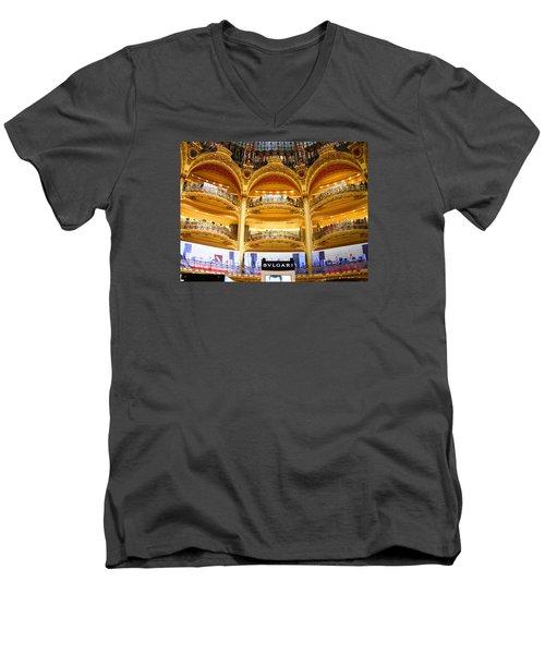 Galleries Laffayette  Men's V-Neck T-Shirt