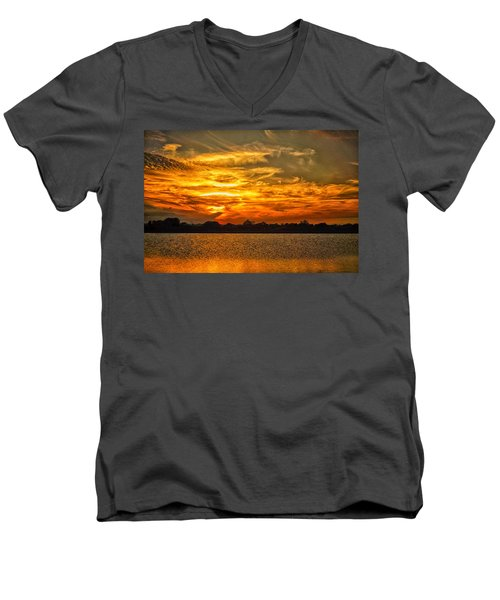 Galveston Island Sunset Dsc02805 Men's V-Neck T-Shirt