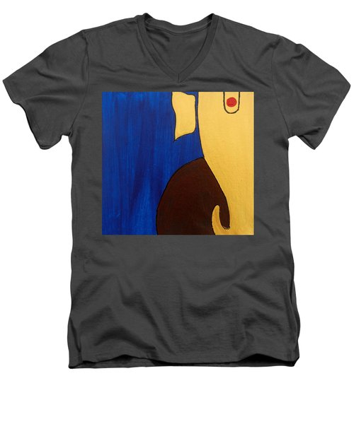 5 Ganesh Gajananaya Men's V-Neck T-Shirt