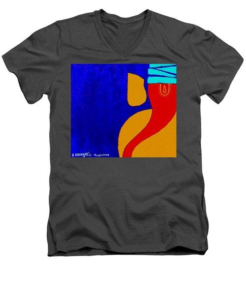 4 Ganesh Mangalmurti Men's V-Neck T-Shirt
