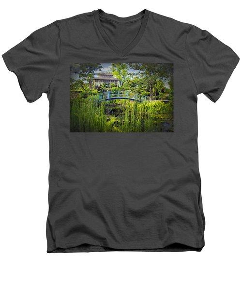 Garden At Houmas House Plantation La Dsc04584 Men's V-Neck T-Shirt by Greg Kluempers