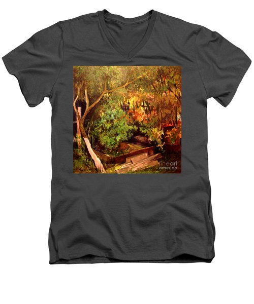 Garden Backyard Corner Men's V-Neck T-Shirt