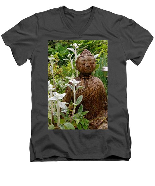 Garden Buddha Men's V-Neck T-Shirt