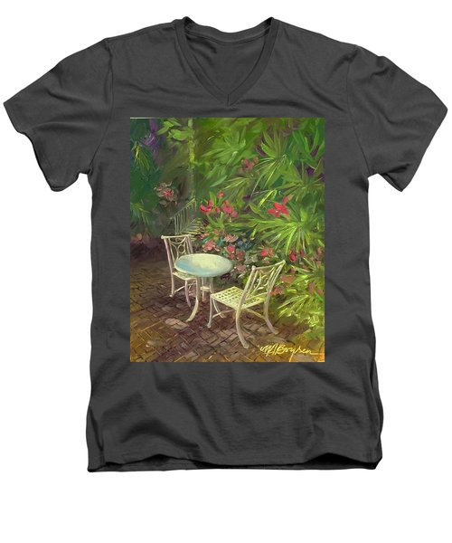 Garden Conversation Men's V-Neck T-Shirt