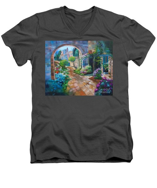 Garden Courtyard Men's V-Neck T-Shirt
