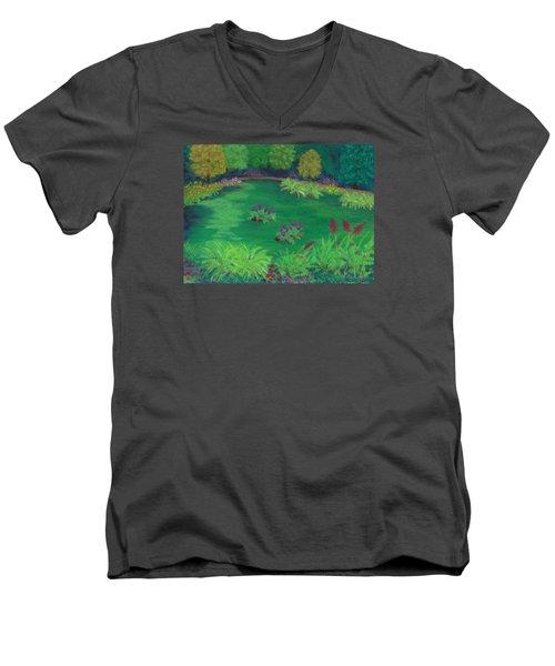 Garden In The Woods Men's V-Neck T-Shirt