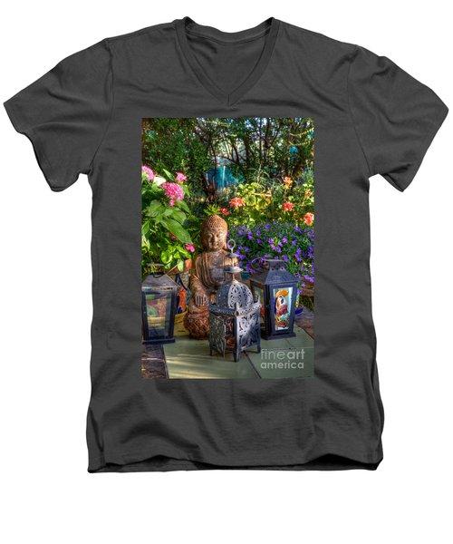Garden Meditation Men's V-Neck T-Shirt