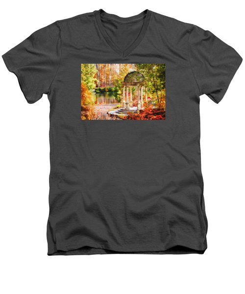 Men's V-Neck T-Shirt featuring the photograph Garden Of Beauty by Trina  Ansel