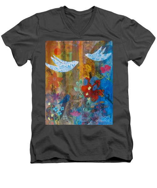 Garden Of Love Men's V-Neck T-Shirt
