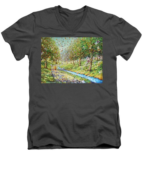 Garden Of Prosperity Men's V-Neck T-Shirt