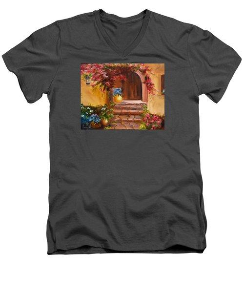 Garden Of Serenity Men's V-Neck T-Shirt