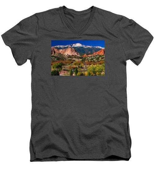 Garden Of The Gods In Autumn 2011 Men's V-Neck T-Shirt by John Hoffman
