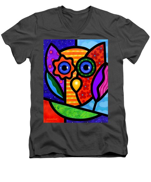 Garden Owl Men's V-Neck T-Shirt