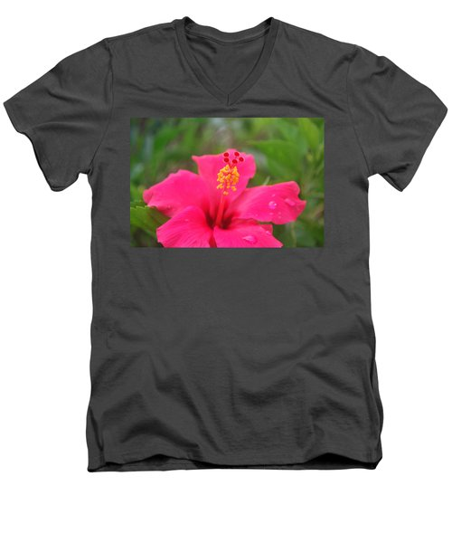 Men's V-Neck T-Shirt featuring the photograph Garden Rains by Miguel Winterpacht