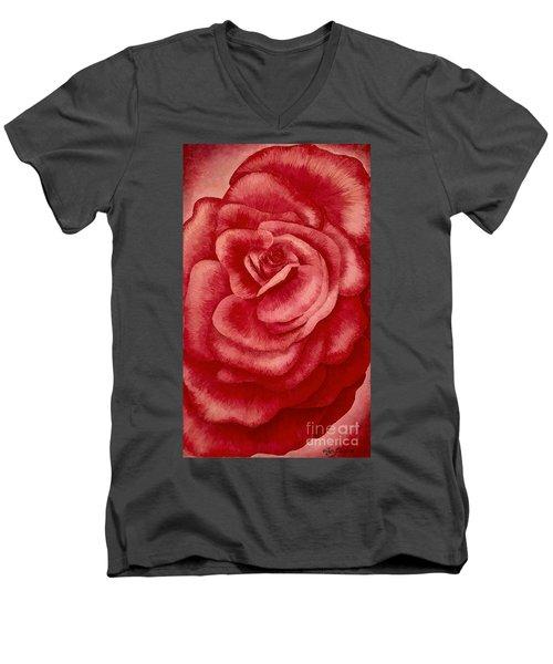 Garden Rose Men's V-Neck T-Shirt