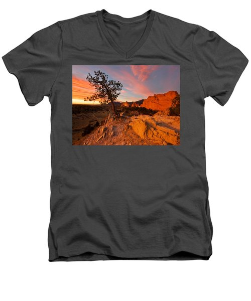 Garden Sunrise Men's V-Neck T-Shirt by Ronda Kimbrow