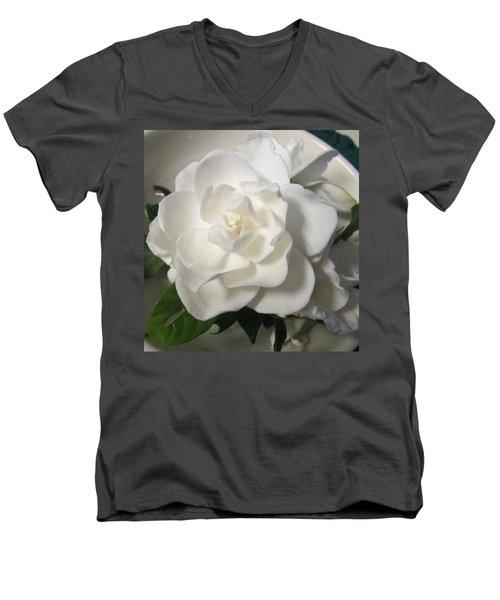 Gardenia Bowl Men's V-Neck T-Shirt by Deborah Lacoste