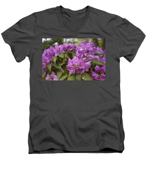 Men's V-Neck T-Shirt featuring the photograph Garden's Welcome by Miguel Winterpacht