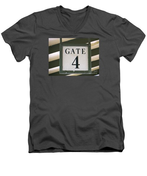 Men's V-Neck T-Shirt featuring the photograph Gate #4 by Joy Hardee