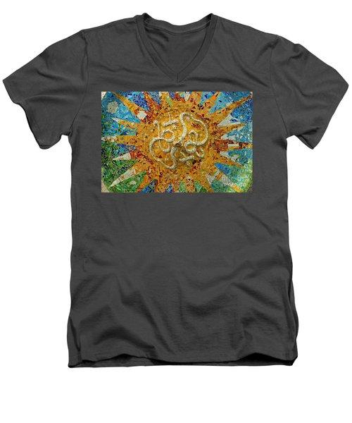 Men's V-Neck T-Shirt featuring the photograph Gaudi Art by Mariusz Czajkowski