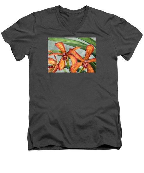 Gayety Men's V-Neck T-Shirt by Lynda Hoffman-Snodgrass