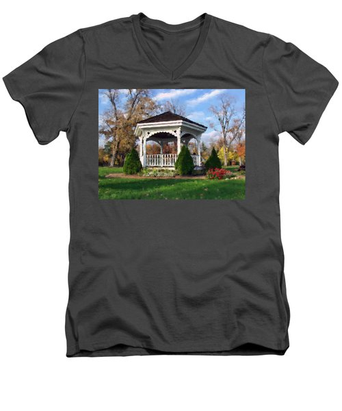 Gazebo At Olmsted Falls - 1 Men's V-Neck T-Shirt