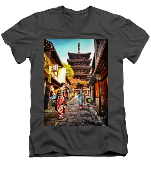 Geisha Temple Men's V-Neck T-Shirt