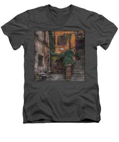 Gelateria Del Teatro Men's V-Neck T-Shirt by Hanny Heim