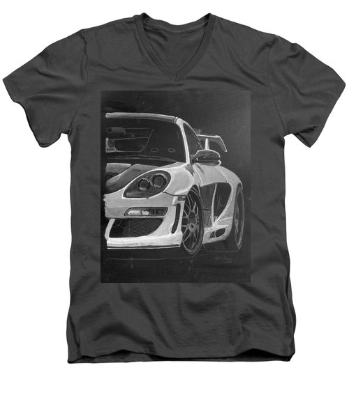 Gemballa Porsche Left Men's V-Neck T-Shirt